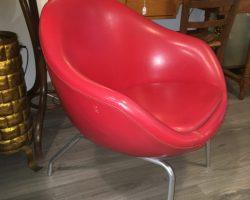 Sillón vintage color rojo años 60